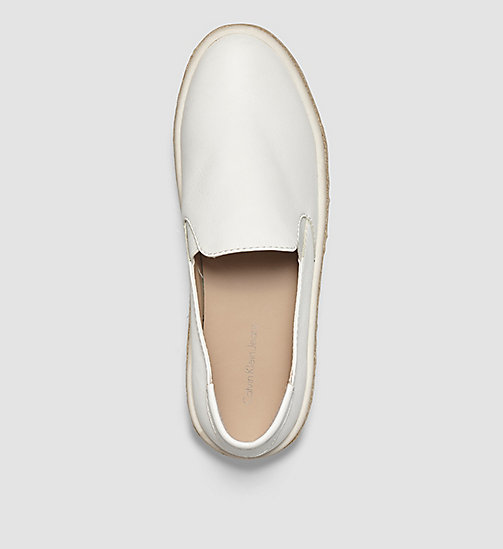 Leather Slip-On Shoes - WHITE/WHITE - CK JEANS SHOES & ACCESSORIES - detail image 1