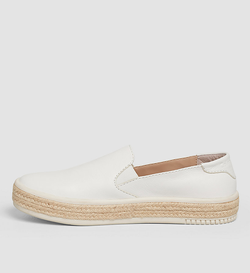 CKJEANS Leather Slip-On Shoes - WHITE/WHITE - CK JEANS SHOES & ACCESSORIES - detail image 2
