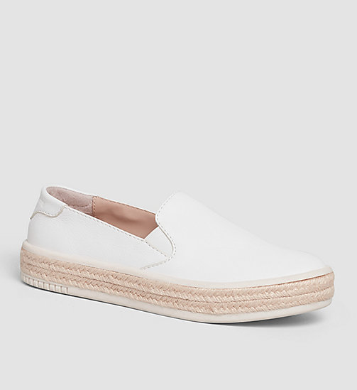 CKJEANS Leather Slip-On Shoes - WHITE/WHITE - CK JEANS SHOES - main image