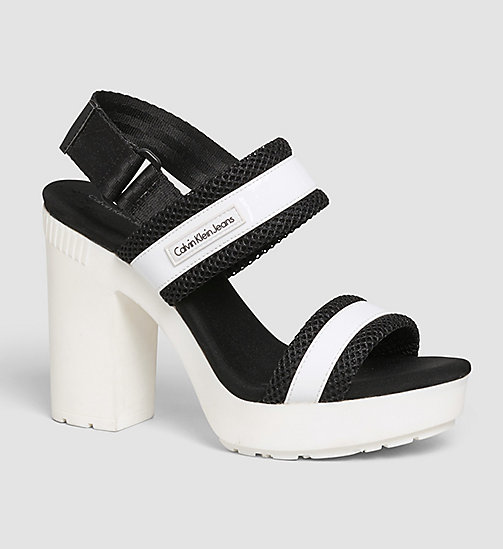 CKJEANS Sandals - WHITE/WHITE/BLACK - CK JEANS SANDALS - main image