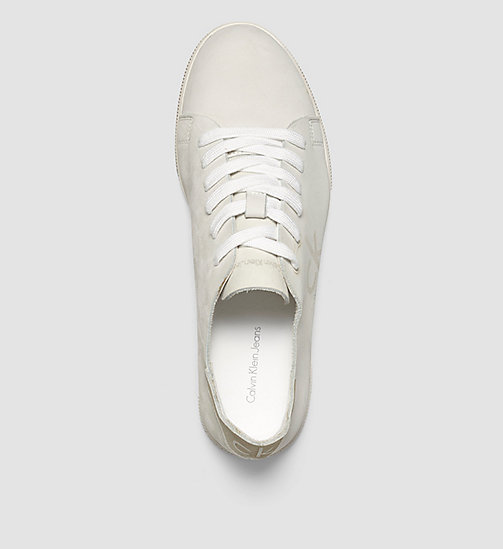 Leather Sneakers - WHITE/WHITE - CK JEANS SHOES & ACCESSORIES - detail image 1