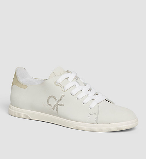 CKJEANS Leather Sneakers - WHITE/WHITE - CK JEANS TRAINERS - main image