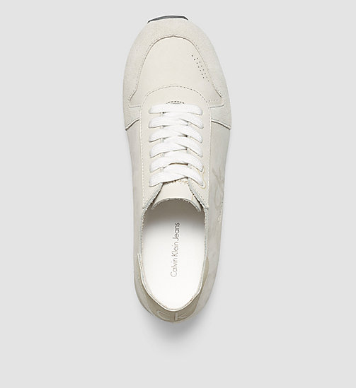 CALVINKLEIN Leather Sneakers - WHITE/WHITE - CK JEANS SHOES & ACCESSORIES - detail image 1