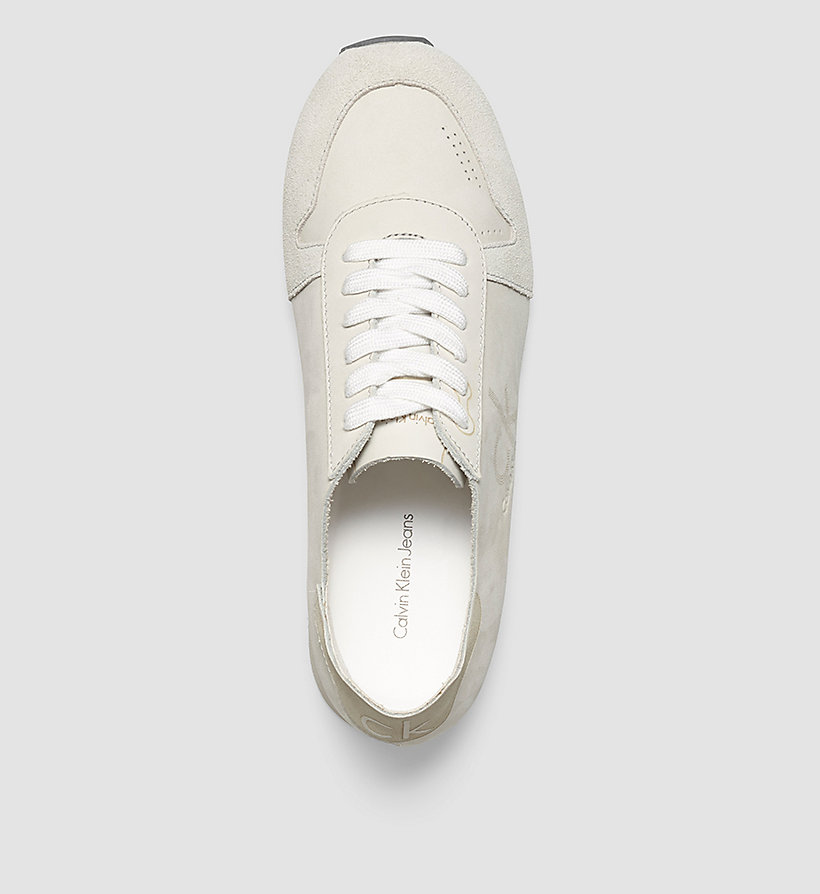 CKJEANS Leather Sneakers - WHITE/WHITE - CK JEANS SHOES & ACCESSORIES - detail image 1
