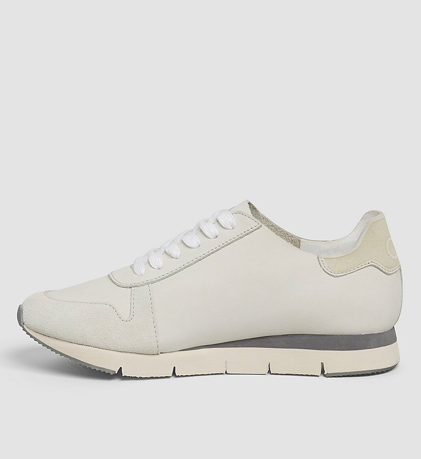 CKJEANS Leather Sneakers - WHITE/WHITE - CK JEANS SHOES & ACCESSORIES - detail image 2