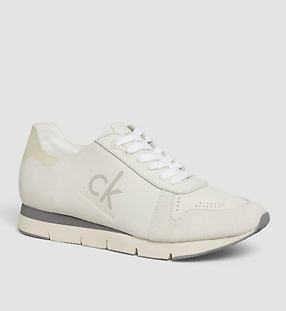 CALVIN KLEIN Leather Sneakers 00000R4081WHT