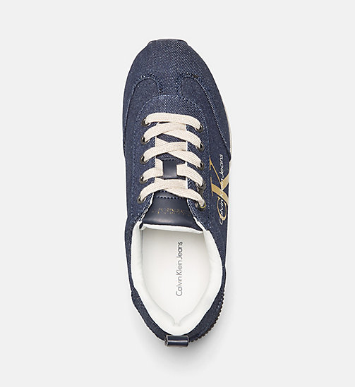 CALVIN KLEIN JEANS Denim-sneakers - MIDNIGHT/GOLD - CALVIN KLEIN JEANS SNEAKERS - detail image 1