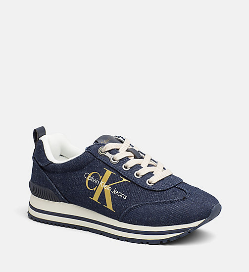 CALVIN KLEIN JEANS Denim-sneakers - MIDNIGHT/GOLD - CALVIN KLEIN JEANS SNEAKERS - main image
