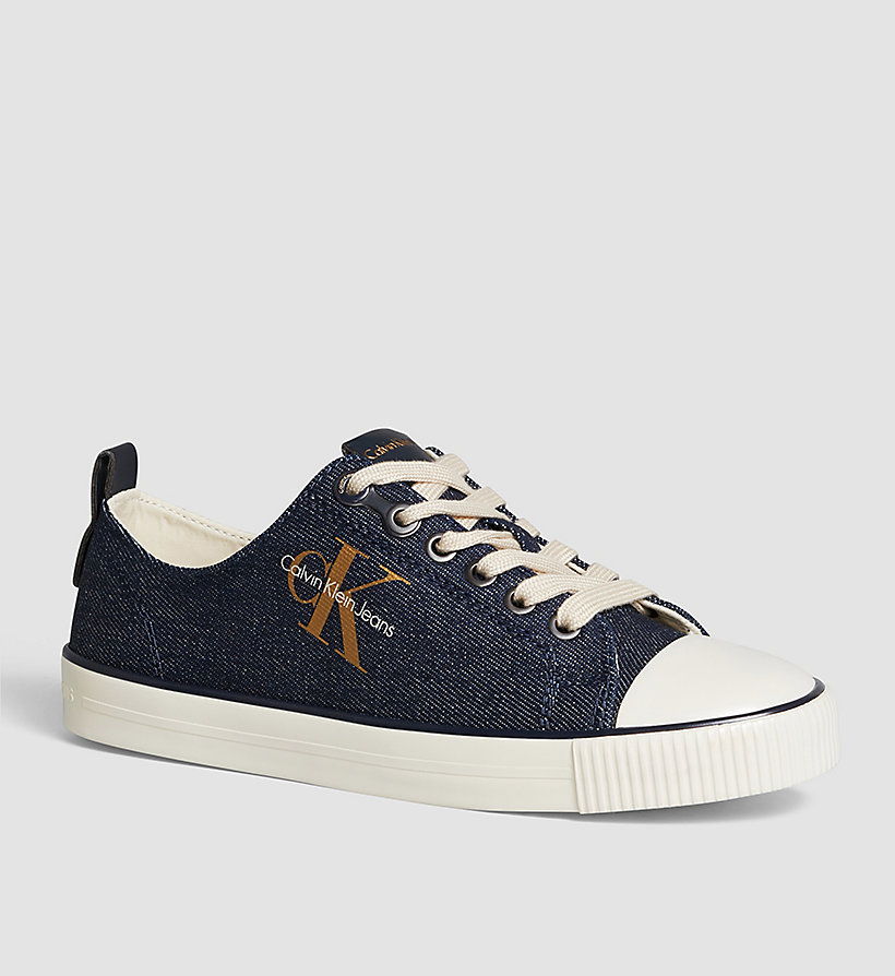 CKJEANS Denim Sneakers - BLUE/MIDNIGHT/GOLD - CK JEANS SHOES & ACCESSORIES - main image