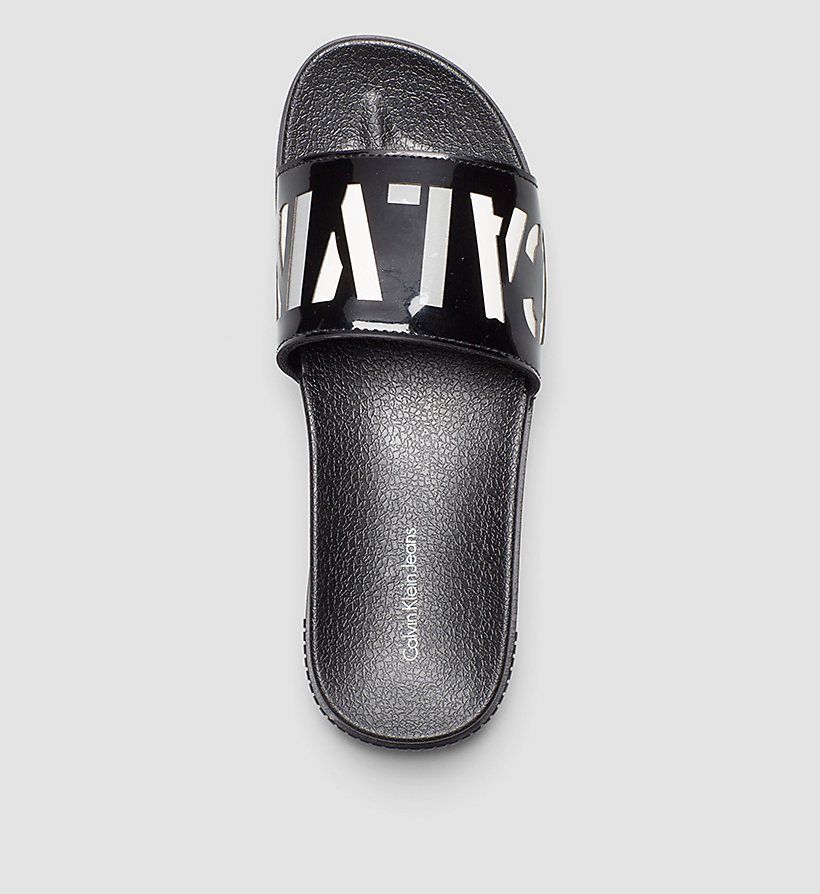 CKJEANS Logo Slippers - BLACK/BLACK - CK JEANS SHOES & ACCESSORIES - detail image 1