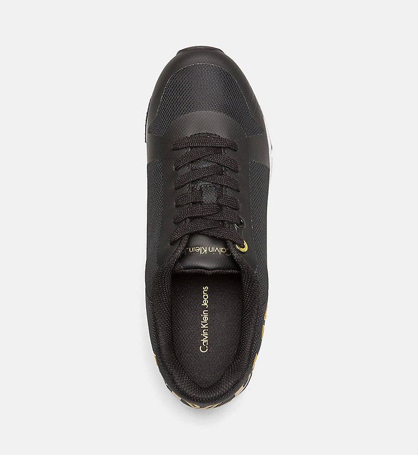 CALVIN KLEIN JEANS Mesh Sneakers - BLACK/GOLD - CALVIN KLEIN JEANS SHOES & ACCESSORIES - detail image 1