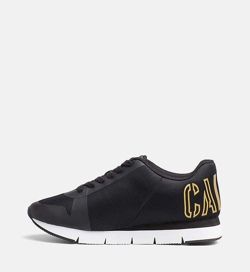 CALVIN KLEIN JEANS Mesh Sneakers - BLACK/GOLD - CALVIN KLEIN JEANS SHOES & ACCESSORIES - detail image 2