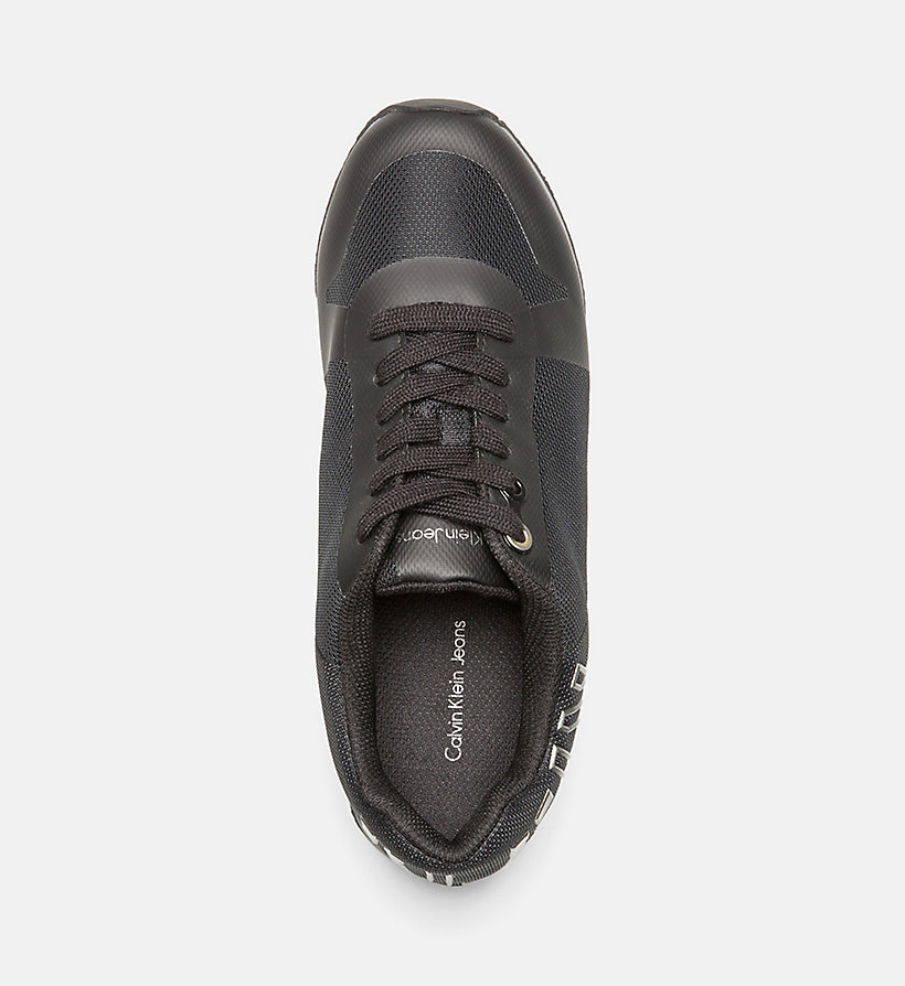 CALVIN KLEIN JEANS Mesh Sneakers - BLACK/ PEWTER - CALVIN KLEIN JEANS SHOES & ACCESSORIES - detail image 1