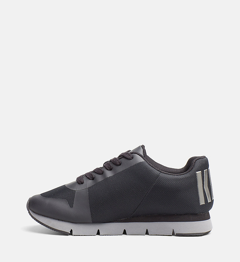 CALVIN KLEIN JEANS Mesh Sneakers - BLACK/ PEWTER - CALVIN KLEIN JEANS SHOES & ACCESSORIES - detail image 2