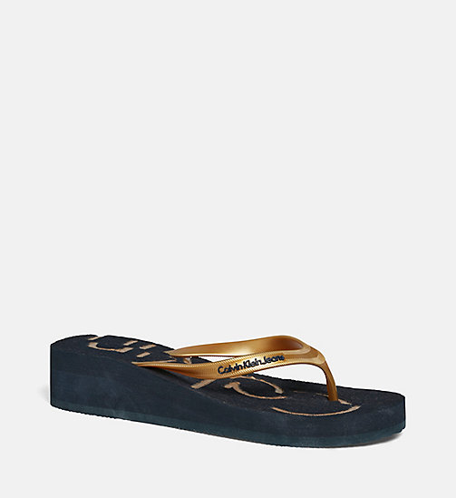 CKJEANS Jelly Sandals - BLACK/INDIGO/GOLD - CK JEANS SANDALS - main image