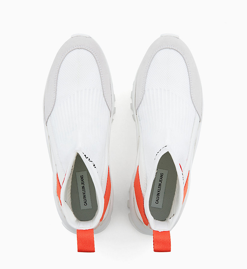 Calvin Klein - High Top Sneakers aus Strickgewirk - 4