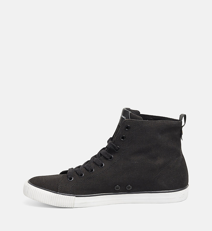 CKJEANS High Top Canvas Sneakers - BLACK/BLACK - CK JEANS SCHUHE & ACCESSOIRES - main image 2