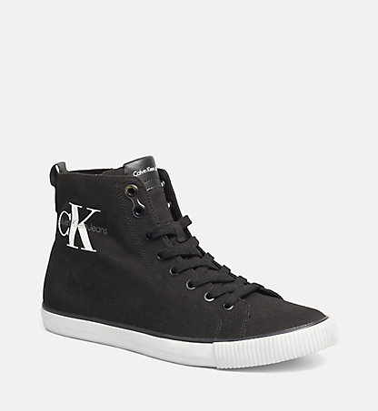 CALVIN KLEIN JEANS High-Top Canvas Sneakers 00000S0367BLK