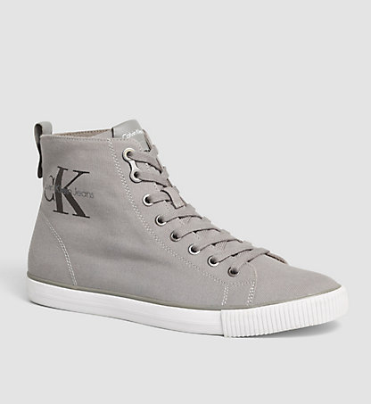 CALVIN KLEIN JEANS High-Top Canvas Sneakers 00000S0367GRY