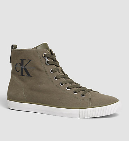 CALVIN KLEIN JEANS High-Top Canvas Sneakers 00000S0367MRY