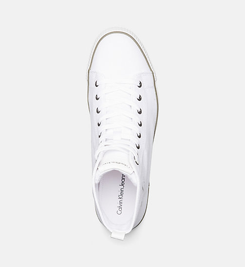 CALVIN KLEIN JEANS High-Top Canvas Sneakers - BLACK/WHITE - CALVIN KLEIN JEANS 24/7 STAPLES - detail image 1