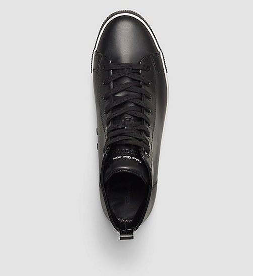 CALVIN KLEIN JEANS High-Top Sneakers - BLACK - CALVIN KLEIN JEANS TRAINERS - detail image 1