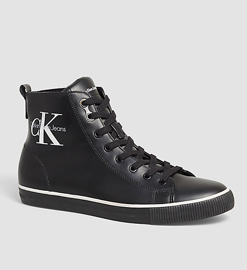 CALVIN KLEIN JEANS High-Top Sneakers - BLACK - CALVIN KLEIN JEANS TRAINERS - main image