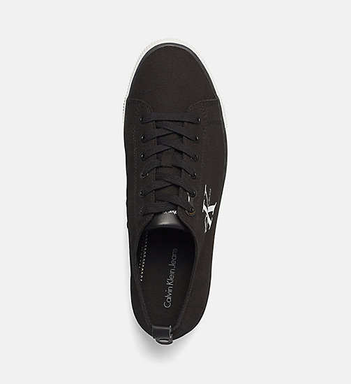 CKJEANS Canvas Sneakers - BLACK/BLACK - CK JEANS TRAINERS - detail image 1