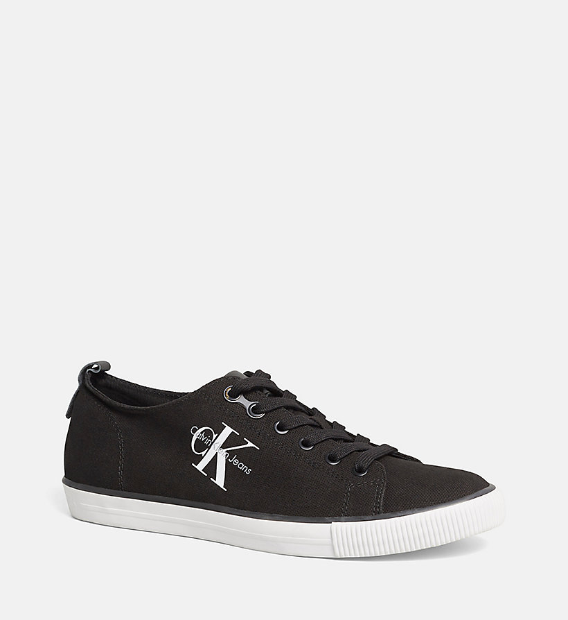 CKJEANS Canvas Sneakers - BLACK /  BLACK - CK JEANS SHOES & ACCESSORIES - main image
