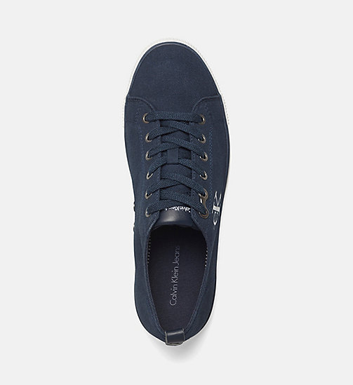 Canvas Sneakers - BLACK/NAVY - CALVIN KLEIN JEANS SHOES & ACCESSORIES - detail image 1