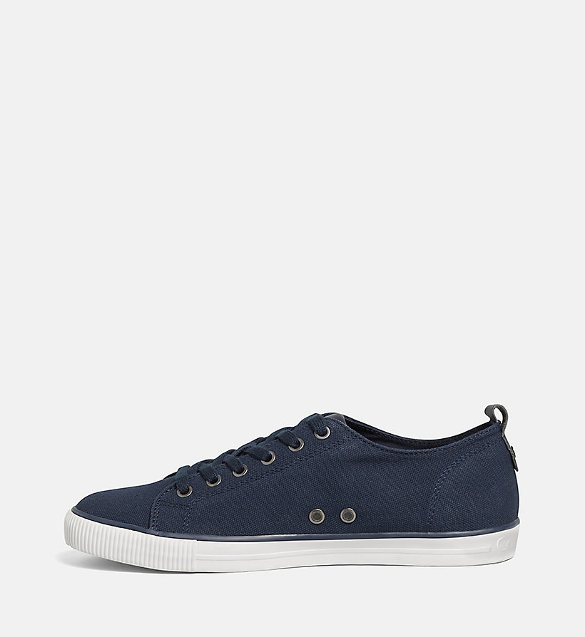 CKJEANS Canvas Sneakers - BLACK/NAVY - CK JEANS SHOES & ACCESSORIES - detail image 2