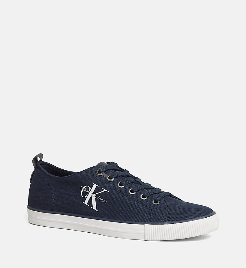 CKJEANS Canvas Sneakers - BLACK/NAVY - CK JEANS SHOES & ACCESSORIES - main image