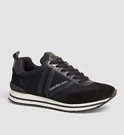 CALVIN KLEIN JEANS Leather Sneakers - Evert 00000S0381BLK