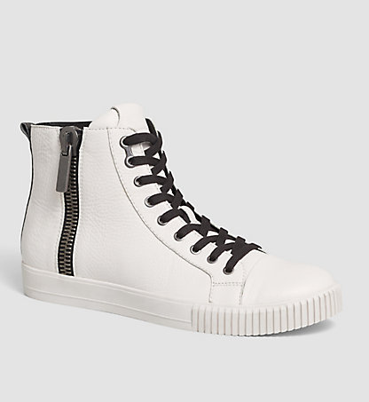 CALVIN KLEIN JEANS Leather High-Top Sneakers - City 00000S0399CFW