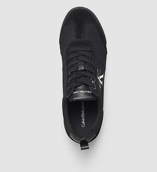 Canvas Sneakers - BLACK/BLACK - CALVIN KLEIN JEANS SHOES & ACCESSORIES - detail image 1