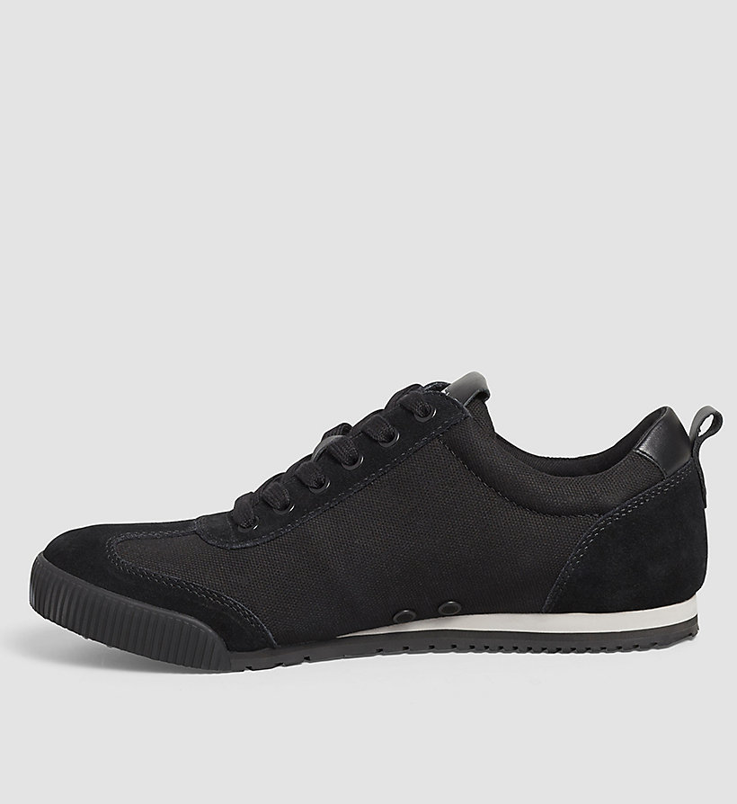 CALVIN KLEIN JEANS Canvas Sneakers - BLACK/BLACK - CALVIN KLEIN JEANS SHOES & ACCESSORIES - detail image 2