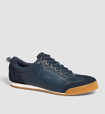 CALVIN KLEIN JEANS Leather Sneakers - Wyatt 00000S0417MNT