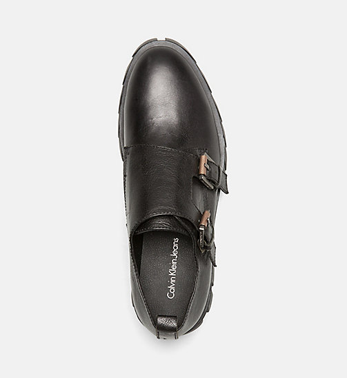 CALVIN KLEIN JEANS Leather Shoes - BLACK - CALVIN KLEIN JEANS FLAT SHOES - detail image 1