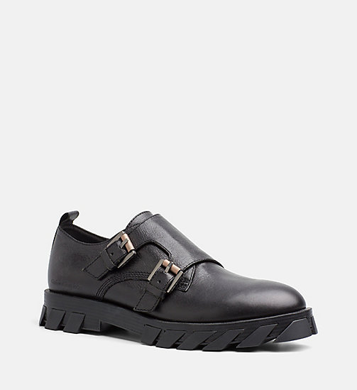 CALVIN KLEIN JEANS Leather Shoes - BLACK - CALVIN KLEIN JEANS FLAT SHOES - main image