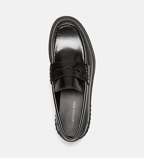 CALVIN KLEIN JEANS Leather Loafers - BLACK - CALVIN KLEIN JEANS SHOES - detail image 1