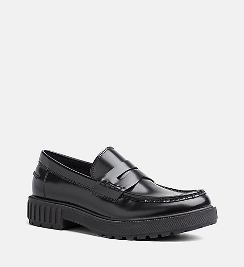 CALVIN KLEIN JEANS Leather Loafers - BLACK - CALVIN KLEIN JEANS SHOES - main image