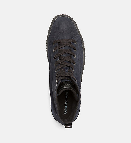CALVIN KLEIN JEANS Suede High-Top Sneakers - INDIGO - CALVIN KLEIN JEANS TRAINERS - detail image 1