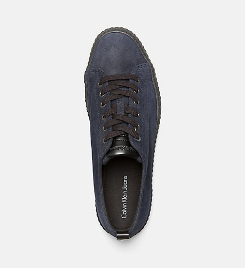 CALVINKLEIN Suede Sneakers - INDIGO - CALVIN KLEIN JEANS SHOES & ACCESSORIES - detail image 1