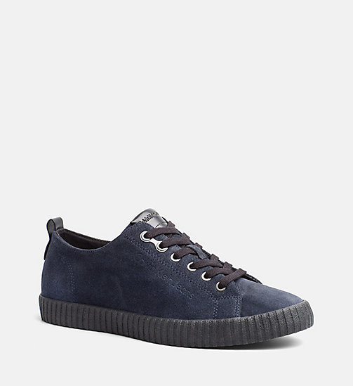 CALVINKLEIN Suede Sneakers - INDIGO - CALVIN KLEIN JEANS SHOES & ACCESSORIES - main image
