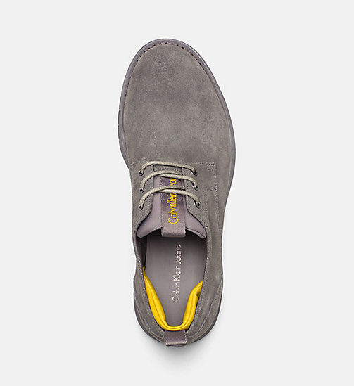 CALVIN KLEIN JEANS Suede Lace-Up Shoes - CHARCOAL/AMBER - CALVIN KLEIN JEANS FLAT SHOES - detail image 1