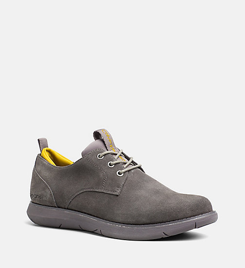 CALVIN KLEIN JEANS Suede Lace-Up Shoes - CHARCOAL/AMBER - CALVIN KLEIN JEANS FLAT SHOES - main image