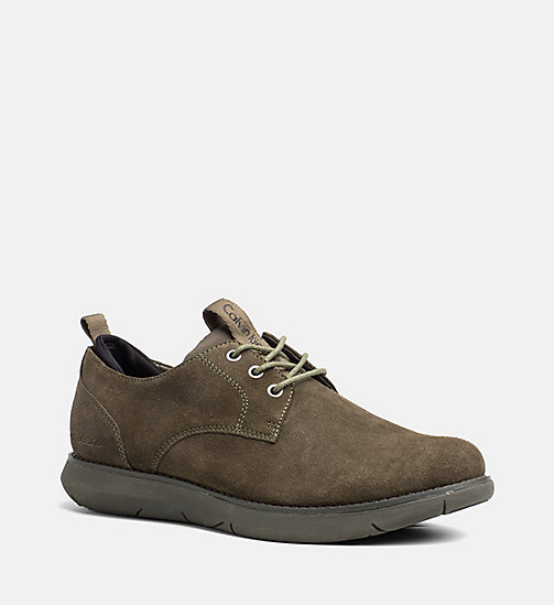 CALVIN KLEIN JEANS Suede Lace-Up Shoes - CARGO/BLACK - CALVIN KLEIN JEANS FLAT SHOES - main image