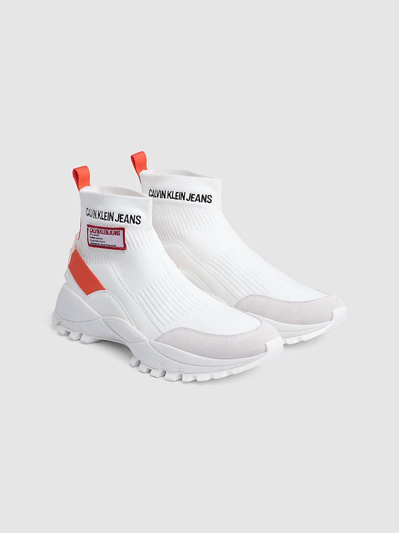 Calvin Klein - High Top Sneakers aus Strickgewirk - 2