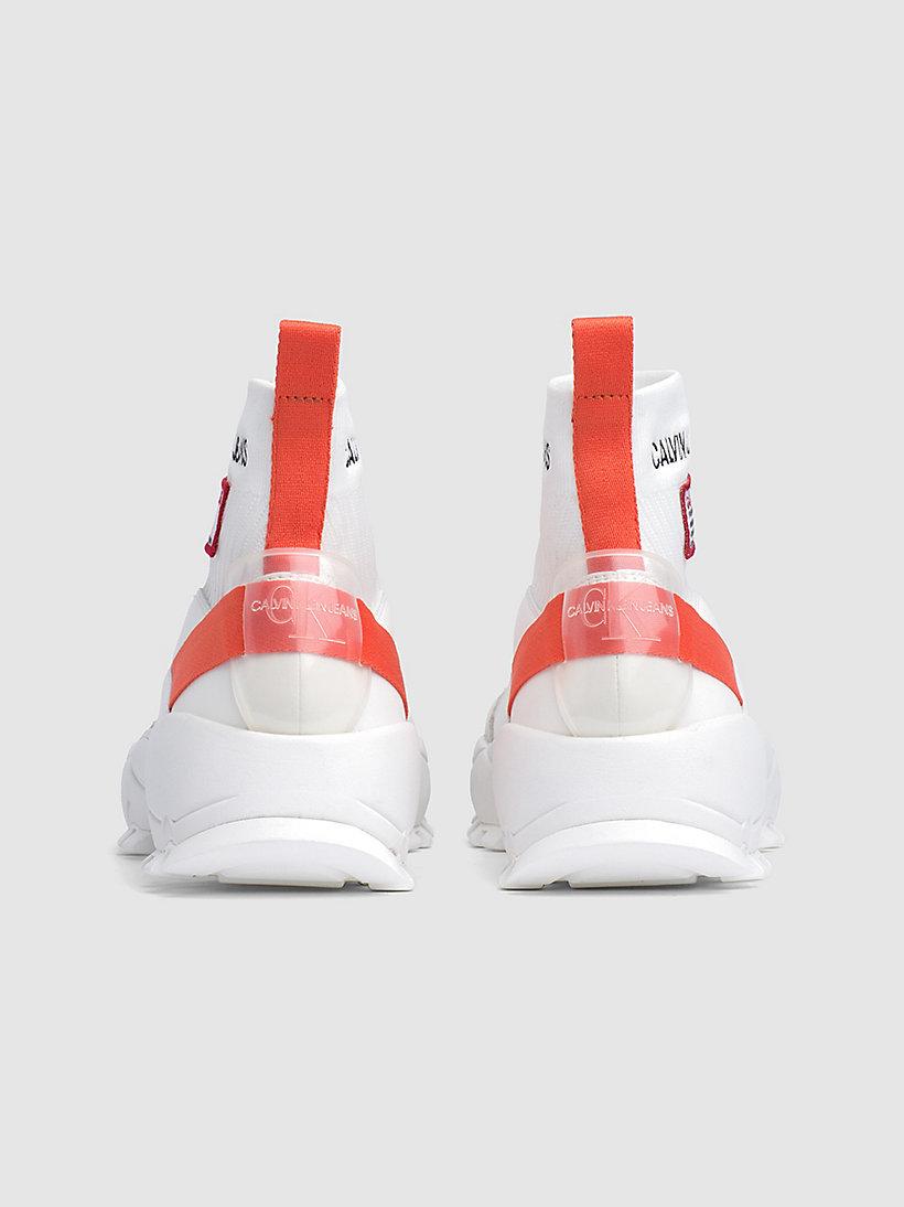 Calvin Klein - High Top Sneakers aus Strickgewirk - 3