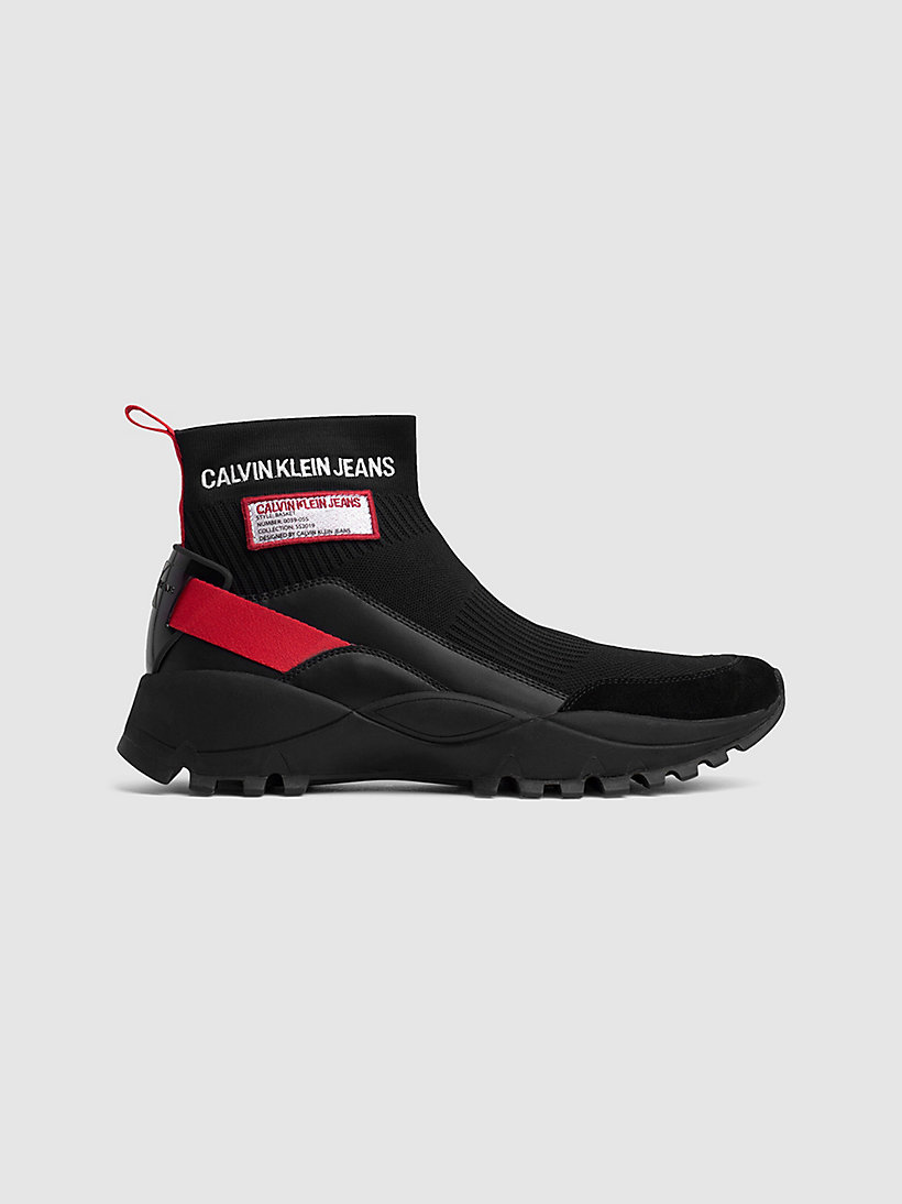 Calvin Klein - High Top Sneakers aus Strickgewirk - 1
